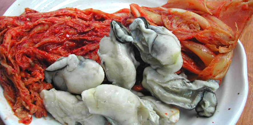 牡蠣たっぷり白菜キムチ