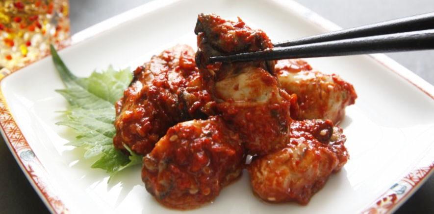 蒸し牡蠣キムチ