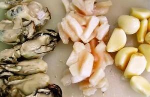 牡蠣と帆立とにんにく